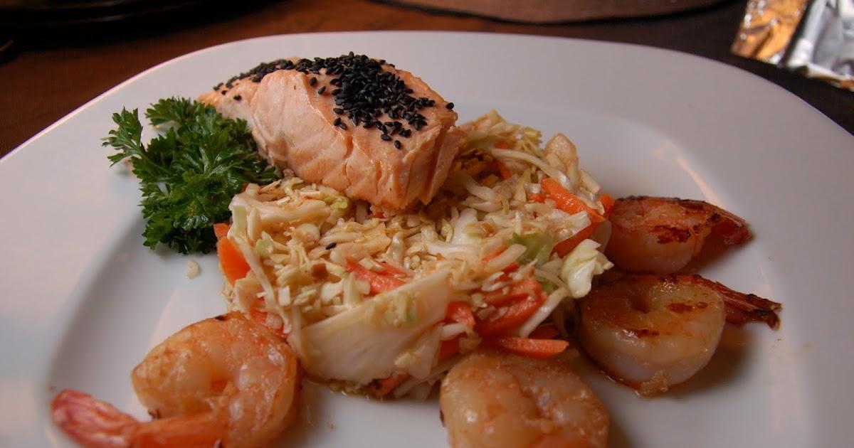 Carla's Tasty Treats: 2/4/10 - Asian Style Slaw with Salmon and Shrimp