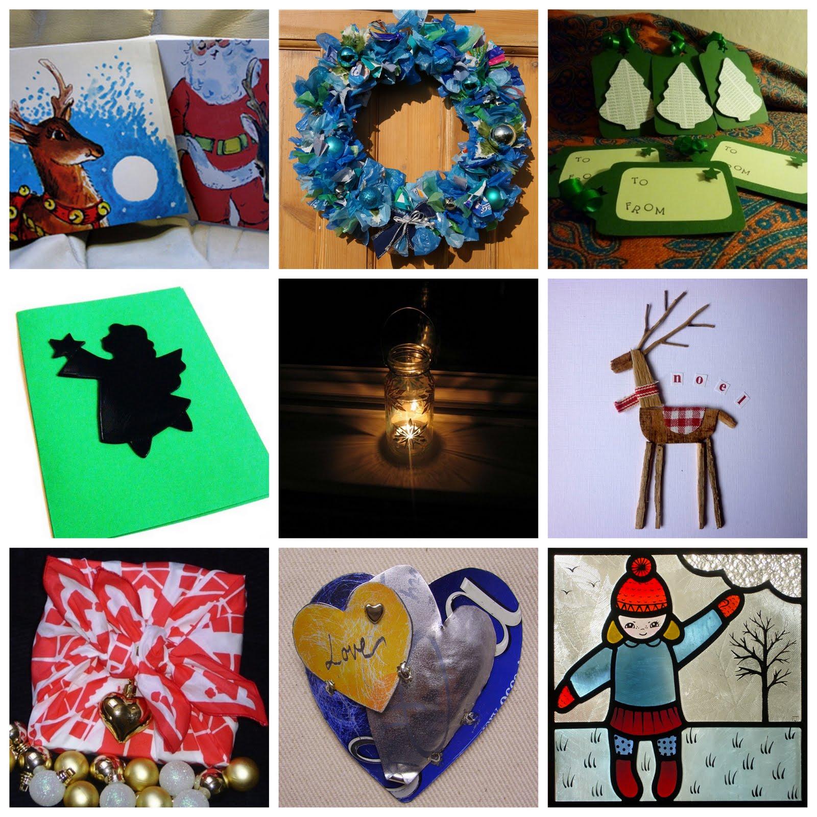 Handmade christmas robin decoration claire hurd design - 4 Vinyl Record Angel Christmas Card Sisily Love 5 Snowflake Lantern Blossom Fair 6 Driftwood Reindeer Christmas Card Kirsty Elson Designs