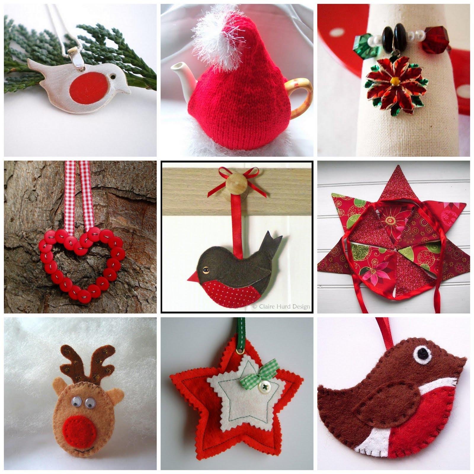 Handmade christmas robin decoration claire hurd design -