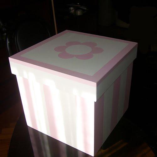 Decoraci n para beb s caja de madera pintadas a mano for Cajas pintadas a mano