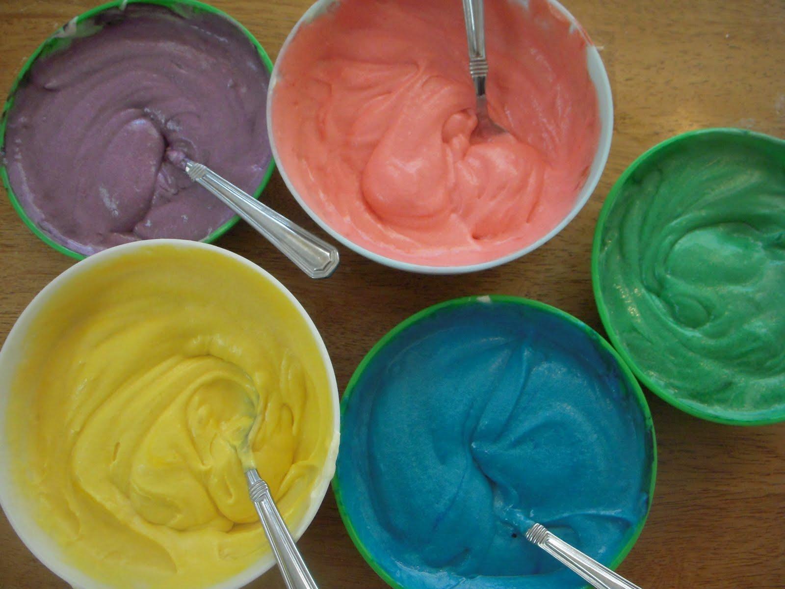 Tie Dye Cupcake Frosting