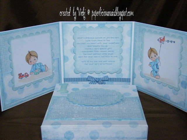 Paperlicious Oasis Happy 1st Birthday Card Box