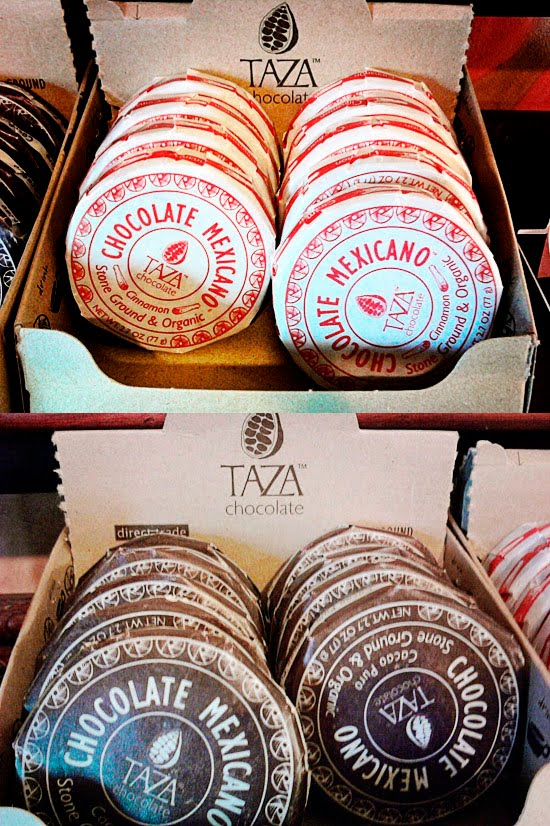 Stoneground and organic Taza Mexican chocolate in pure cacao and cinnamon flavors