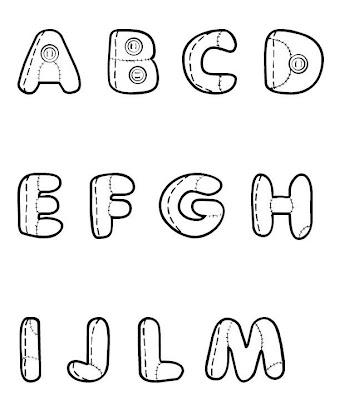 moldes de letras shape