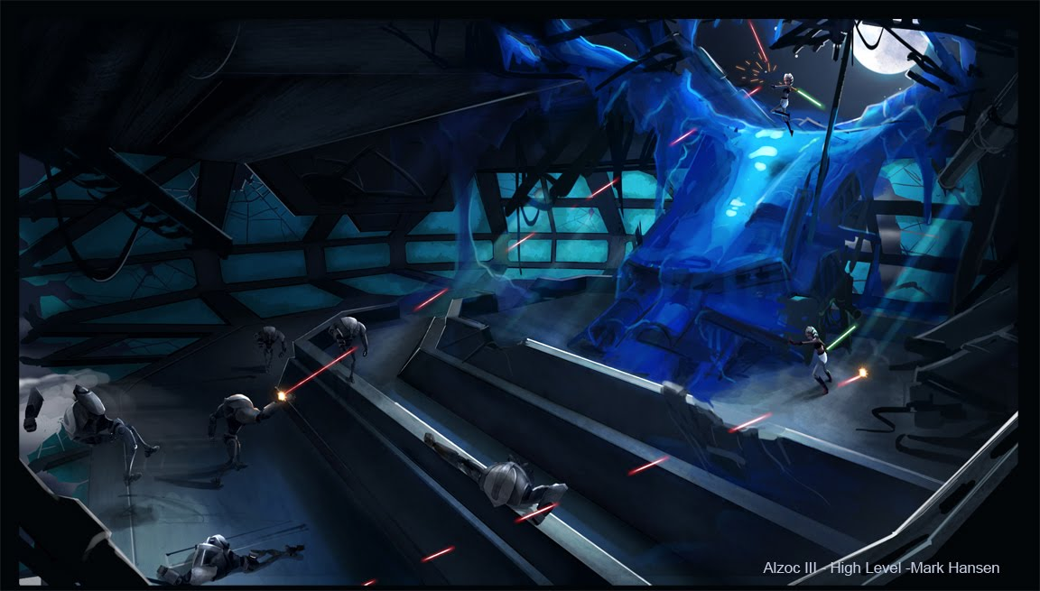 Clone Wars Battle Art Clone Wars Concept Art