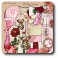 La vie en rose - Digital design kit