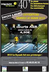 Squash du Marais : ouverture le 20 mars