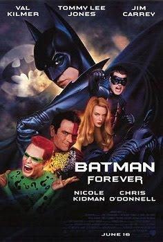 Batman Forever Val Kilmer Joel Schumacher Jim Carey film poster