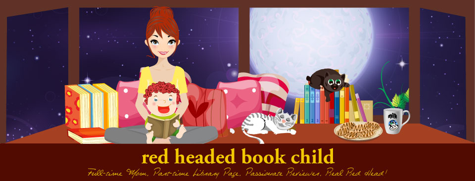red headed book child