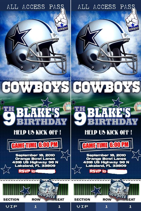 Ramblings from the Sunshine State Blakes Dallas CowboysBowling – Dallas Cowboys Birthday Invitations