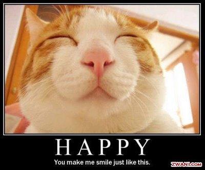 Опиши деня си с картинка Cat+Happy+Smile