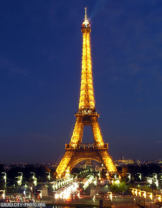 Nighttime Eiffel Tower Pictures on Konwersatorium1 Pjwstk  Paris   The Most Important Sights
