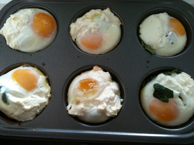 Food for Primal Thought: Hooray for Leftovers! - Baked Eggs Florentine