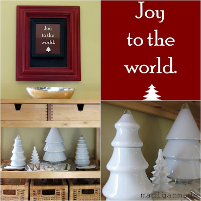 DIY Milkglass Christmas Trees and free print