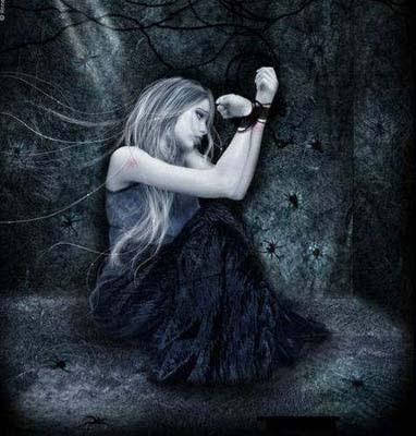 mujer prisionera oscuridad mazmorra