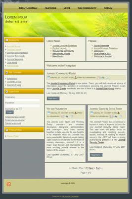 2 column free joomla template