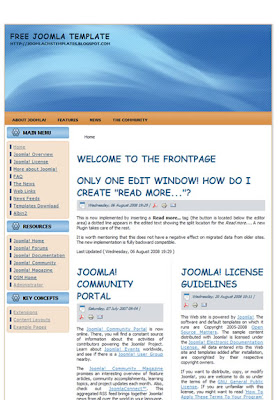 two column business joomla template