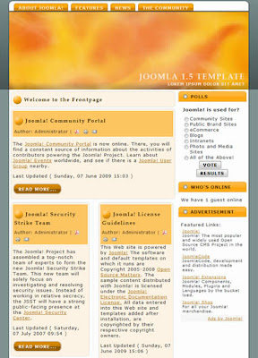 free two column joomla 1.5 template