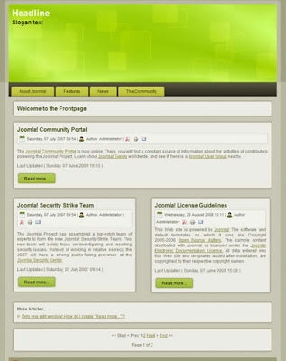 joomla 1.5 free website template