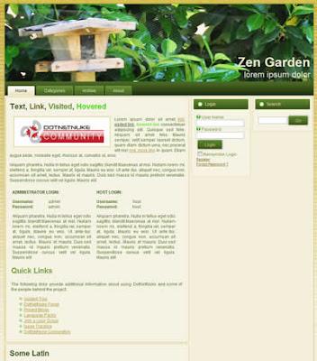 dotnetnuke skin zen garden
