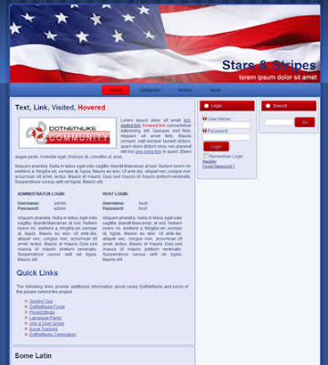 dotnetnuke skin stars and stripes