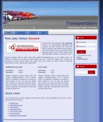 free dotnetnike skin transportation company