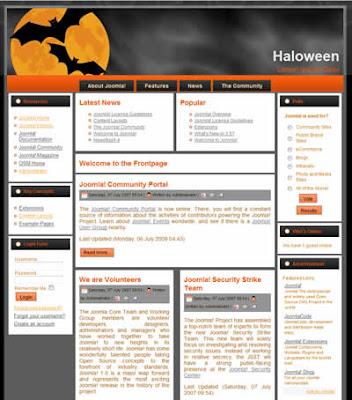 free joomla haloween template