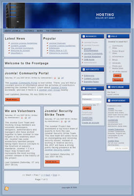 joomla 3 column hosting template