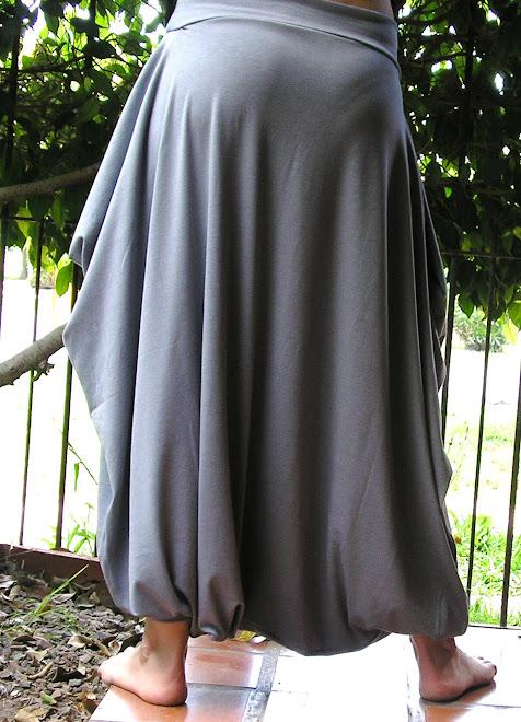 Babucha turca con bolsillos en modal pesado