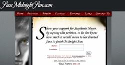 Petição Mindnight Sun