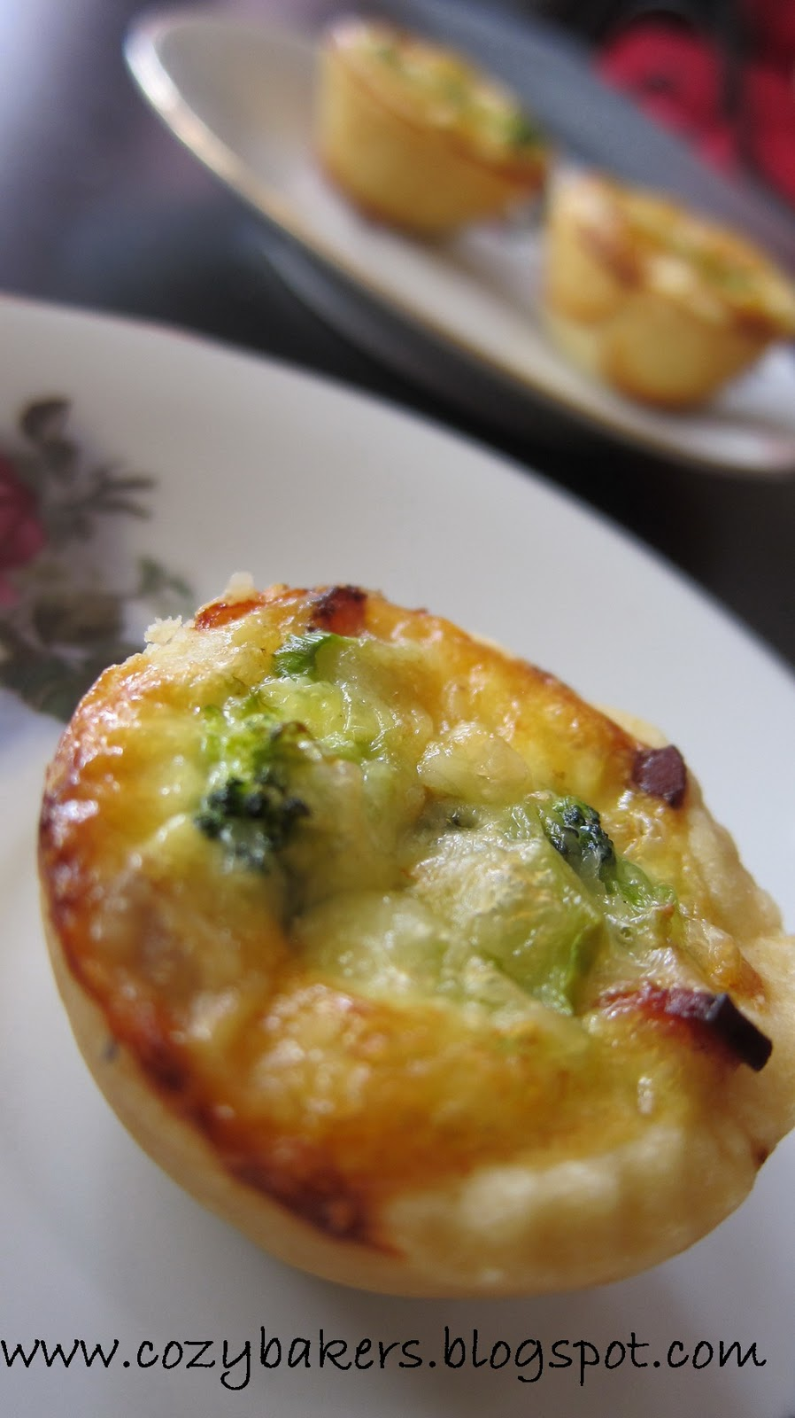 Displaying this delicious Mini Quiche in Pate Brisee crust on my ...