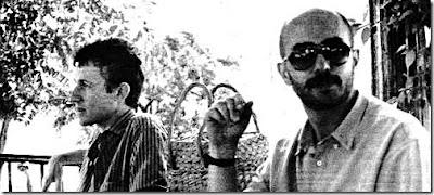 foto inedita del indio solari y skay beilinson en blanco y negro