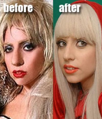 lady gaga images before and after. lady gaga without makeup and