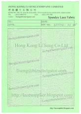 Spandex Lace Fabric Supplier - Hong Kong Li Seng Co Ltd