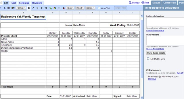 how to make a timesheet in excel 2007