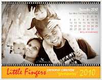 LITTLE FINGERS Personal Calender Giveaway 2010
