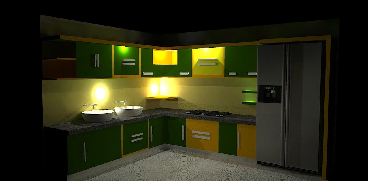 Daffa Meubel Djulfiqar Design Kitchen Set Hijau