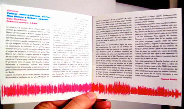 Catalogo. Paisaje Sonoro. Ccs-Brln.  Paginas 2 y 3