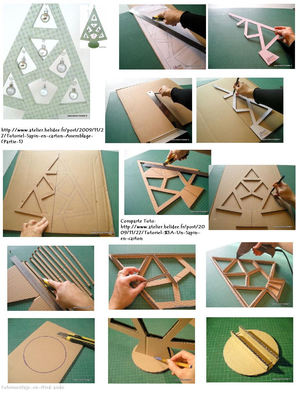 Enrhedando manualidades - Como hacer un arbol de navidad de carton ...