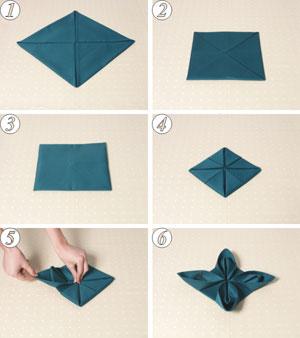 Enrhedando manualidades - Doblar servilletas para navidad ...