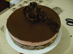 El moldeado en cobertura de chocolate,
