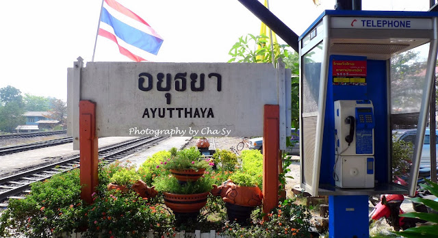 Ayutthaya train station in Thailand