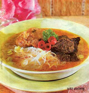 soto padang masakan indonesia resep masakan tradisional