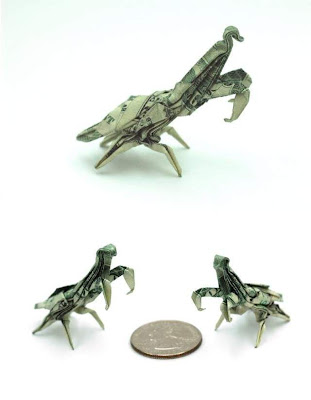 Seni Origami Dengan Uang Dollar