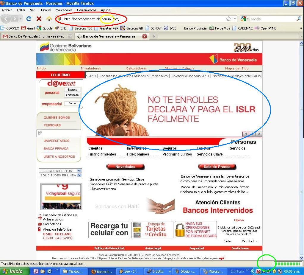 El selv tico alerta phishing contra banco de venezuela Banco venezuela clavenet