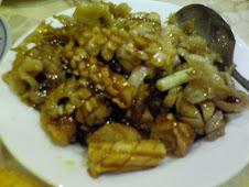 西門 町西寧南路福州新利大雅餐廳e快炒油條腰花魷魚