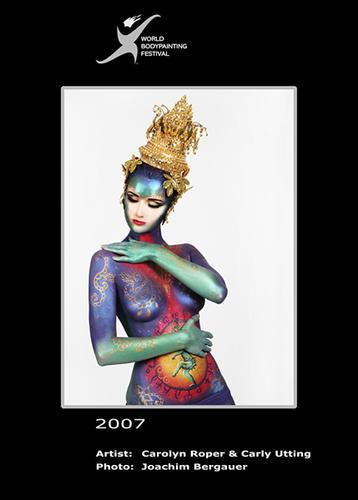 italian body painting festival