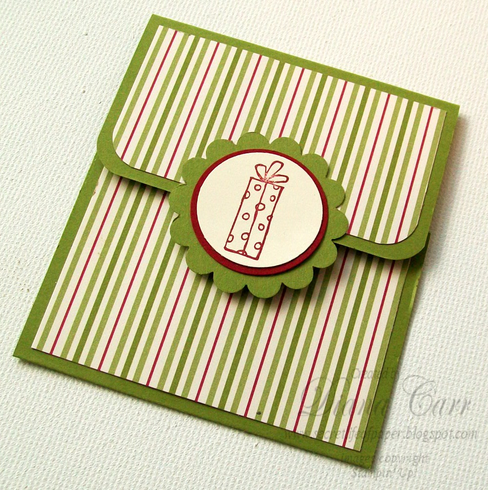 The Secret Life of Paper: Jolly Holiday Gift Card Holders