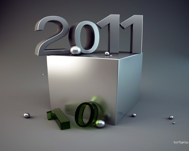 3D New Year Wallpaper