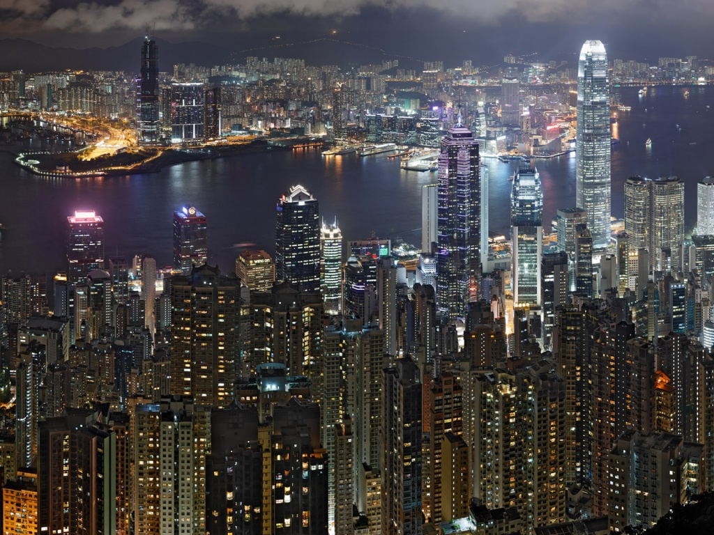 Evening HongKong, hongkong pictures, asia city